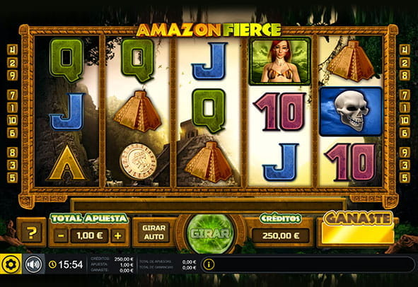 Tablero principal de la tragaperras Amazon Fierce para casinos online.