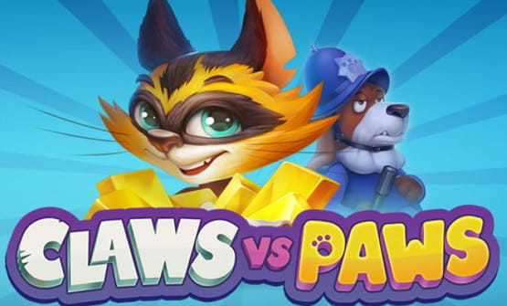 Portada de la slot Claws vs Paws de Playson.