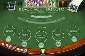 Mesa de Blackjack Perfecto en el casino William Hill.
