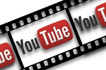 Tira de película con el símbolo de YouTube.