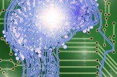 Inteligencia artificial de un cerebro sobre un circuito integrado.