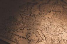 Antiguo mapa de Europa.