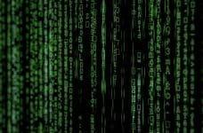 Código cibernético de un hacker.