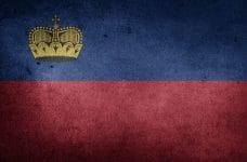 Bandera de Liechtenstein.