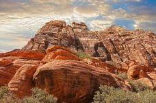 Formación rocosa perteneciente a un cañón.