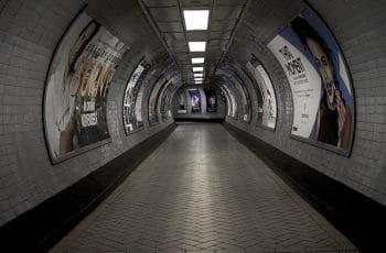 Túnel del metro de Londres.