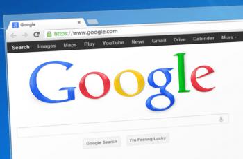 Página principal del motor de búsqueda en internet Google.