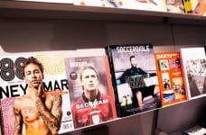 Portadas de diversas revistas con estrellas del fútbol.
