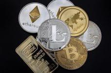 Monedas de diversas criptodivisas.