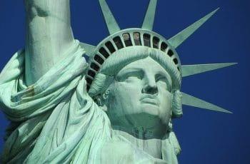 Parte superior de la Estatua de la Libertad, Nueva York.