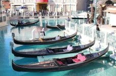 Góndolas en el resort integrado The Venetian, Las Vegas.