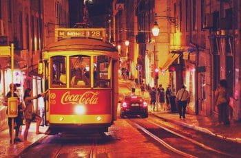 Tranvía en Lisboa.