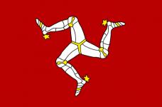 Bandera de la Isla de Man.