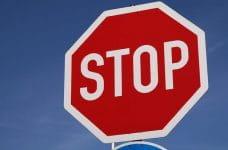 Señal de stop.
