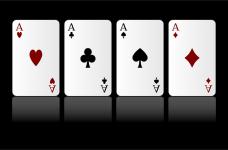 Cuatro ases de poker.
