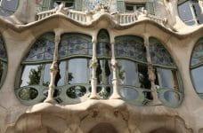 Balcón de una casa de Gaudí, Barcelona.